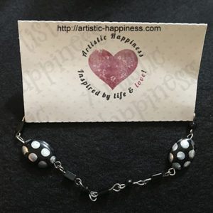 Black Polka Dot Bracelet