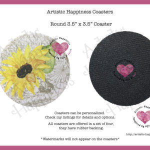 Sunflower Round Coasters