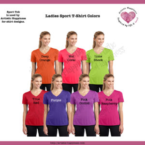 Ladies Shirt Colors Page 2