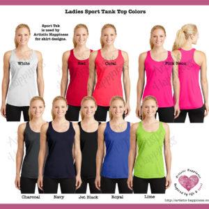 Ladies Tank Colors