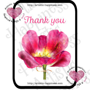 Thank You Pink Flower Note Card